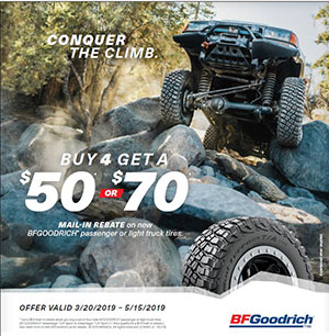 BFGoodrich Summer Tire Rebate at Autocare Signature Tire in Peterborough, Ontario