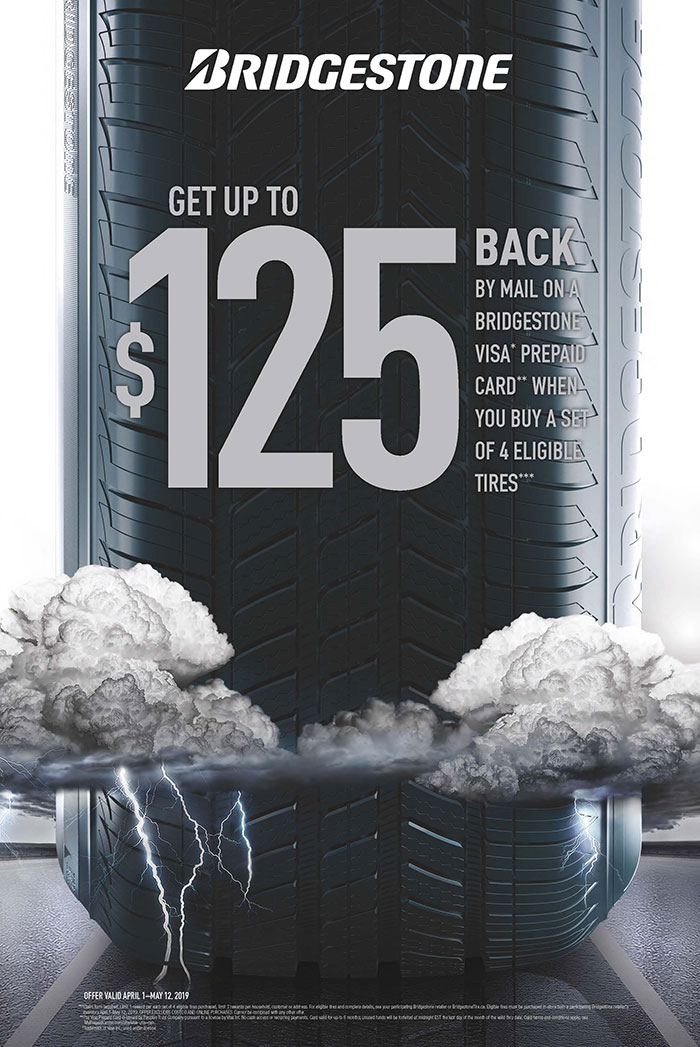 Bridgestone Blizzak Summer Tire Rebate Promotion