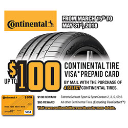 Continental Tire 2018 Summer Tire Rebate