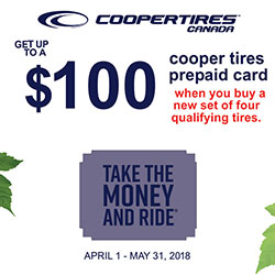 CooperTires 2018 Summer Tire Rebate