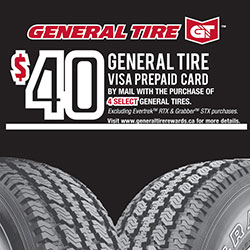 General Tire 2018 Summer Tire Rebate