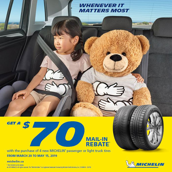 Michelin Summer Tire Rebate Promotion