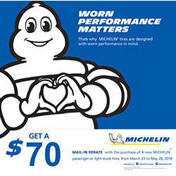 Michelin 2018 Summer Tire Rebate