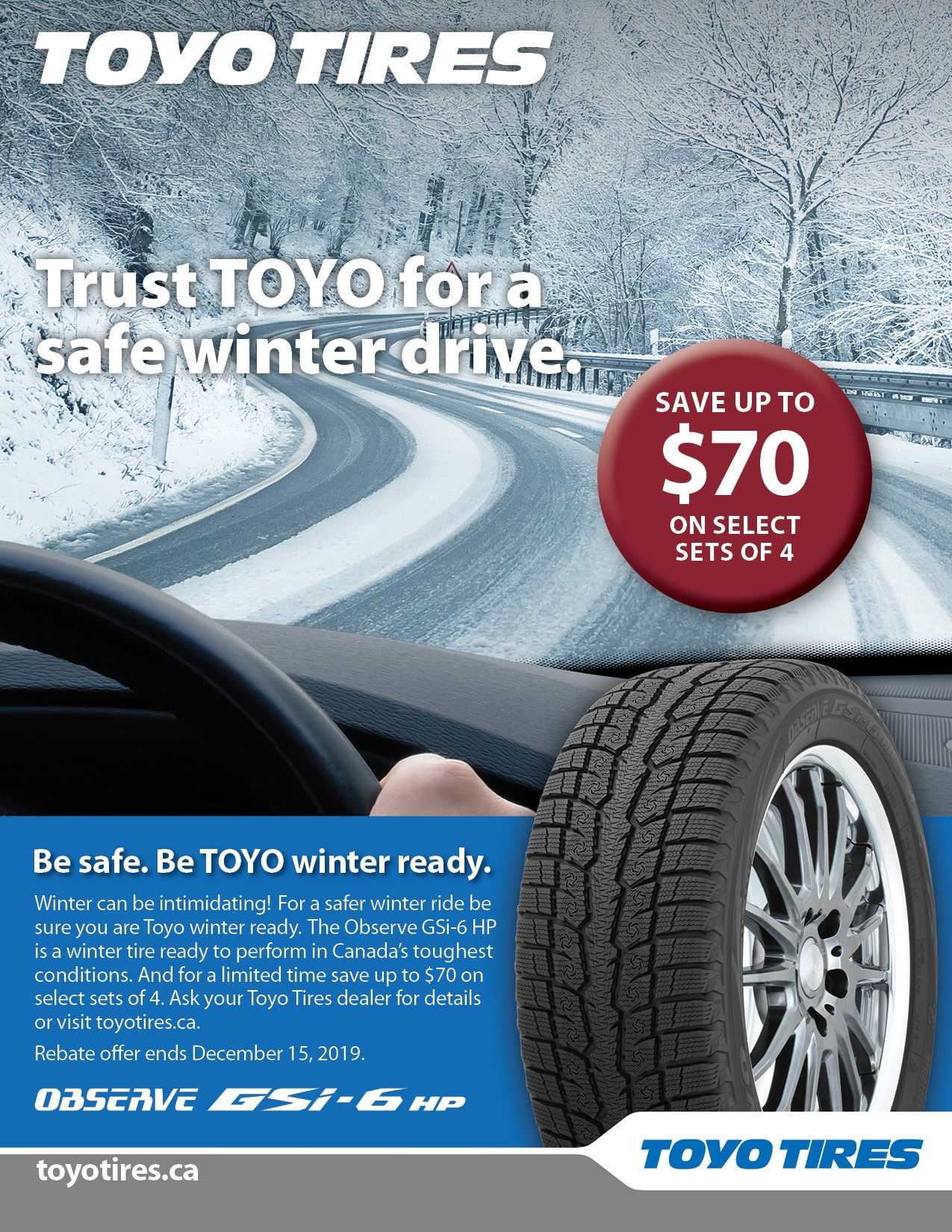 Toyo Winter Tire Rebate