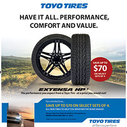Toyo 2018 Summer Tire Rebate
