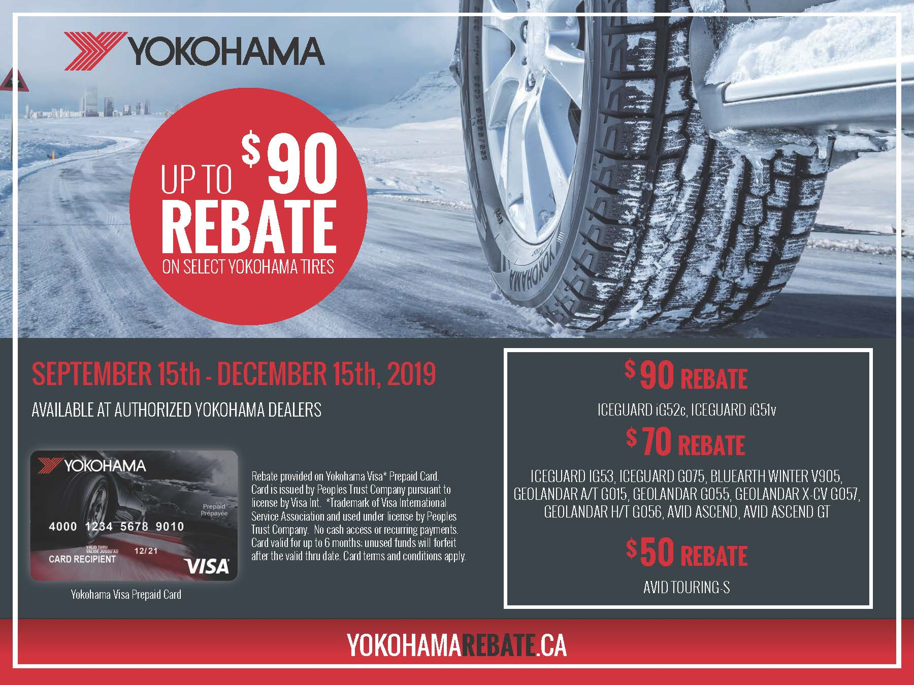Yokohama Winter Tire Rebate