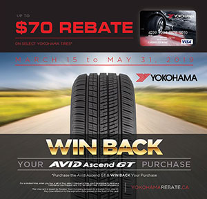 Yokohama Summer Tire Rebate at Autocare Signature Tire in Peterborough, Ontario