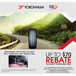 Yokohama 2018 Summer Tire Rebate