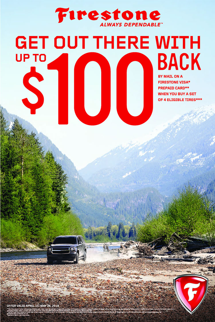 Firestone Summer Tire Rebate at Autocare Signature Tire in Peterborough, Ontario