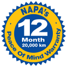 NAPA's Peace of Mind Nationwide Warranty