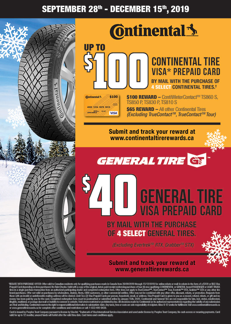 Continental Winter Tire Rebate
