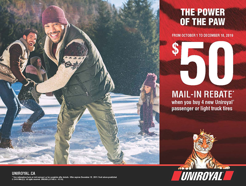 Uniroyal Winter Tire Rebate